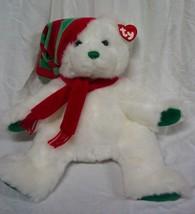"TY Classic Holiday Christmas MERRY THE TEDDY BEAR 13"" Plush Stuffed Anim... - $19.80"
