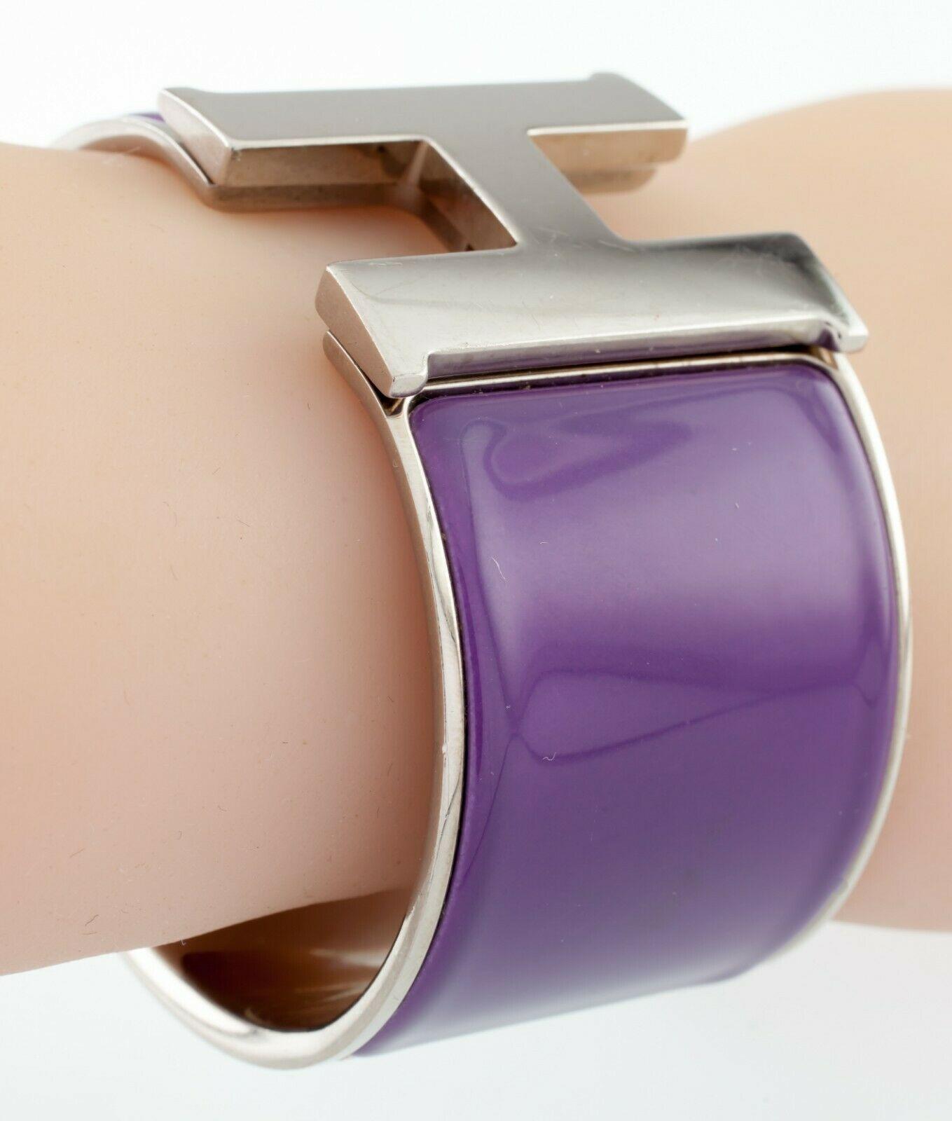 Hermes Clic Clac Violet Extra Large Bracelet Nice! image 3