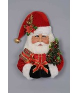 "Karen Didion Santa Claus head Christmas large wall hanging 31"" sh30-06 - $349.99"