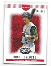 2007 Topps Triple Threads Red Rocco Baldelli Card-#/1350! - $1.24