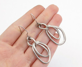 SILPADA 925 Silver - Vintage Smooth Graduated Round Link Dangle Earrings... - $34.62