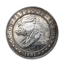 Hobo Nickel 1881-CC USA Morgan Dollar Dinosaurs COPPY COIN For Gift - $5.99