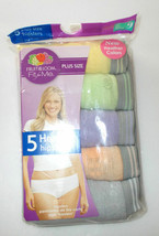 Fruit of the Loom Fit For Me 5 Pk Heather Hipster Pantie Plus Size 9  or 11 - $9.09
