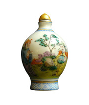 Chinese Porcelain Hand Painted Snuff Bottle Display cs605-8e - $89.00