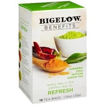 Bigelow Benefits Tumeric Chili Matcha Green Tea - 3 Boxes of 18 Tea Bags... - $16.49