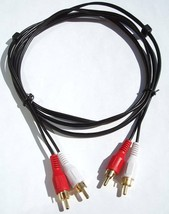 6FT 2-RCA To 2-RCA Premium Gold Stereo Audio Cable Cord - $5.84
