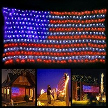 American Flag Light with 420 super bright LED,KAZOKU Waterproof Outdoor ... - $36.04