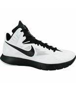 Nike Lunar Hyperquickness TB Men's 18 White Basketball Shoe NWT +FREE SOCKS - $45.43