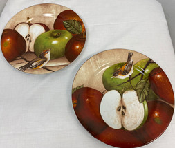 "Sakura ONEIDA David Carter Brown Apple Orchard 8"" Plate, Set of 2 - $14.24"