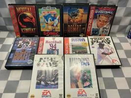 (Lot de 10) Sega Genesis Jeux Vidéo Mortal Kombat Désert Strike Sonic NHL - $41.66