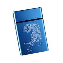 Aluminum Alloy Smooth Creative 20 Cigarettes Holder Storage Case Box for... - $17.76