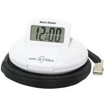 Sonic Alert Sonic Shaker Travel Alarm Clock (white) SONASBP100W - $57.82 CAD