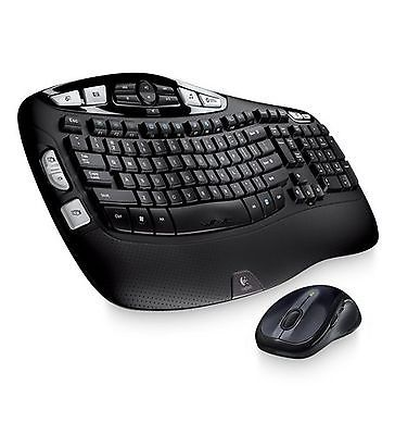 Logitech Mk550 Comfort Wave Wireless Keyboard & Mouse Combo New!
