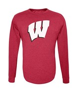 NCAA Wisconsin Badgers Men's Long Sleeve R-Spun Tee, X-Large, Red - $12.95