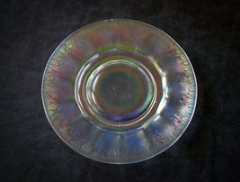 Imperial Colonial 645 Iris Ice Stretch Glass Plate Antique White Carniva... - $16.31