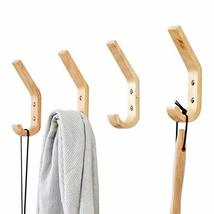 YOYAI 4 PCS Wood Coat Hook Wall Mounted Vintage Single Hook Hat Rack Towel Hange image 9