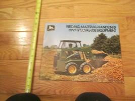 John Deere Feeding Material handling equipment Vintage Dealer sales broc... - $15.99