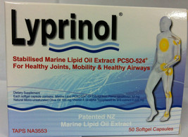 Lyprinol New Zealand Green Lipped Mussel Extract 100 Capsules Joint Support - $98.90