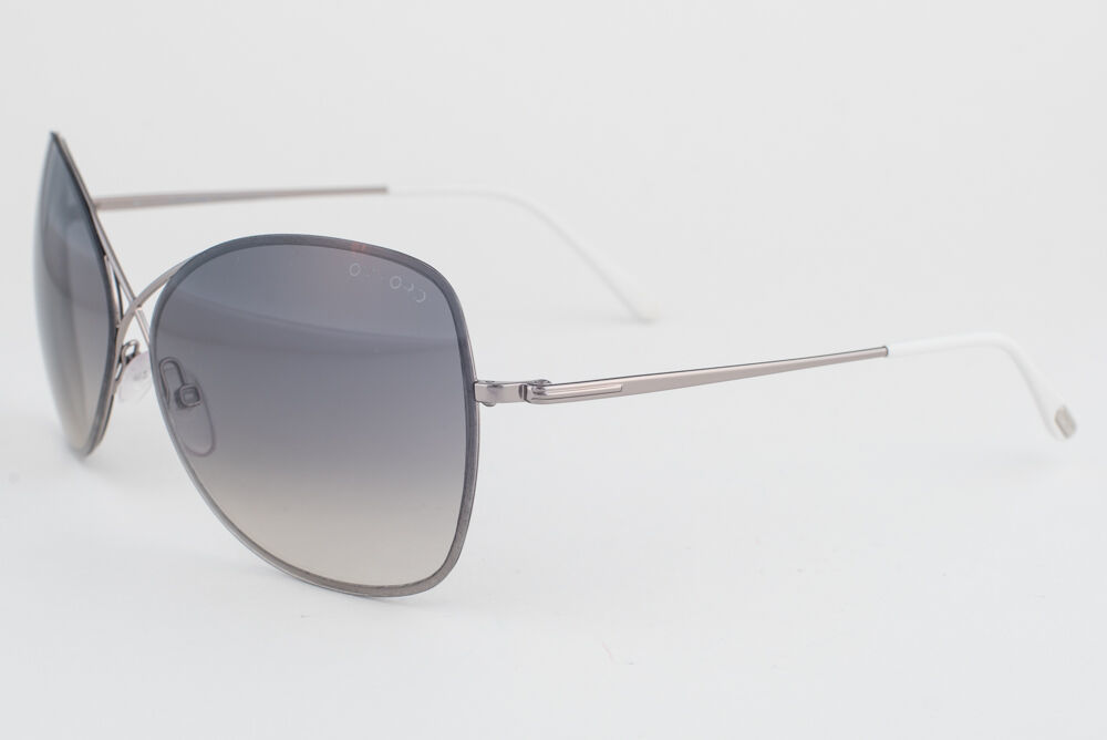 Primary image for Tom Ford Colette Gunmetal White / Gray Gradient Sunglasses TF250 14B