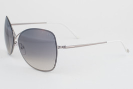 Tom Ford Colette Gunmetal White / Gray Gradient Sunglasses TF250 14B