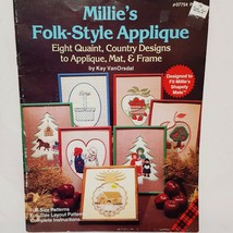 Country Quilt Patterns Millies Folk Style Applique Apple Tree Baskets Ch... - $14.99
