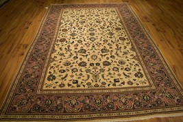 Beige-Lavander Persian Sarouk Rugs in Bedrooms Carpet Handmade Rug 6 x 1... - $741.27