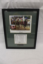 Framed Autograph Signed Photo 132nd KENTUCKY DERBY Winner BARBARO w/Prad... - $199.99