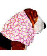 Pink White Allover Daisies Cotton Dog Snood by Howlin Hounds Size Puppy SHORT - $9.50
