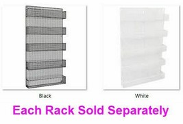 5 Tier Large Wall Mounted Spice Rack Favorites Organizer  Black or White... - $119.59+