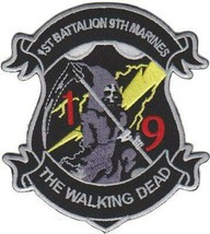 USMC 1st Bn 9th Marines Walking Dead Patch & 3'' Sticker - $17.81