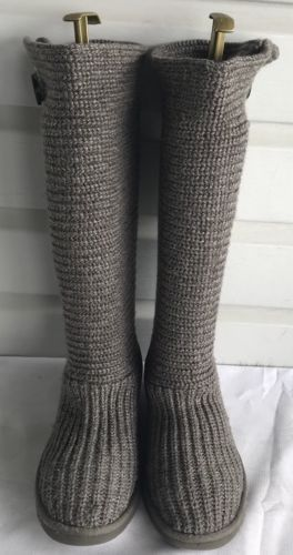 b2650f7c0ad Uggs UGG Australia Classic Cardy Gray Knit and 50 similar items