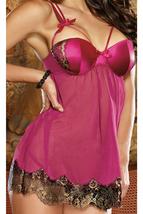 Unomatch Women Bra Stitched Sexy Lingerie Pink - $19.99