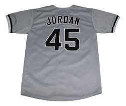 Michael Jordan Birmingham Baseball Jersey Button Down Grey Any Size image 2