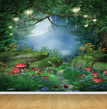 Magical Forest Fairies Feature Wall Art Mural Wall Paper Self Adhesive Vinyl - $43.27+