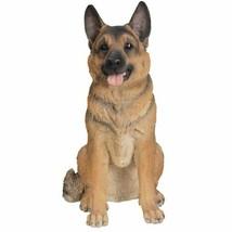 21 Inches Large Size Sitting German Shepherd Dog Statue Figurine - $168.29