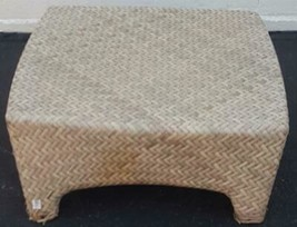 Very Nice Pastel Outdoor Ottoman Beautiful Weave Wood Synthetic - GDC - ... - $118.79