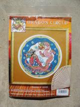 "Counted Cross Stitch Kit Dragon Maiden Geisha Theme Orient 14"" Round Circle - $19.99"