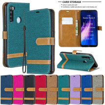 For Xiaomi Note 6 7 8 K20 6A 6Pro canvas Leather Flip Magnetic BACK Case cover - $61.85