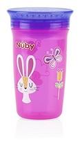 Nuby 1pk No Spill 360 Degree Printed Wonder Cup -Colors May Vary - $3.94
