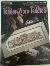 Leisure Arts Tender Worn Teddies Cross Stitch Pattern Leaflet 2311 Teddy... - $3.00