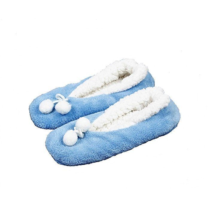 Indoor Use Plush Fleece Inside and Out Cushioned Footbed Slipper Cute Design