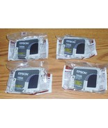 4 Lot Genuine Epson 34 T034 T0348 Matte Black Ink Cartridges New In Seal - $12.99
