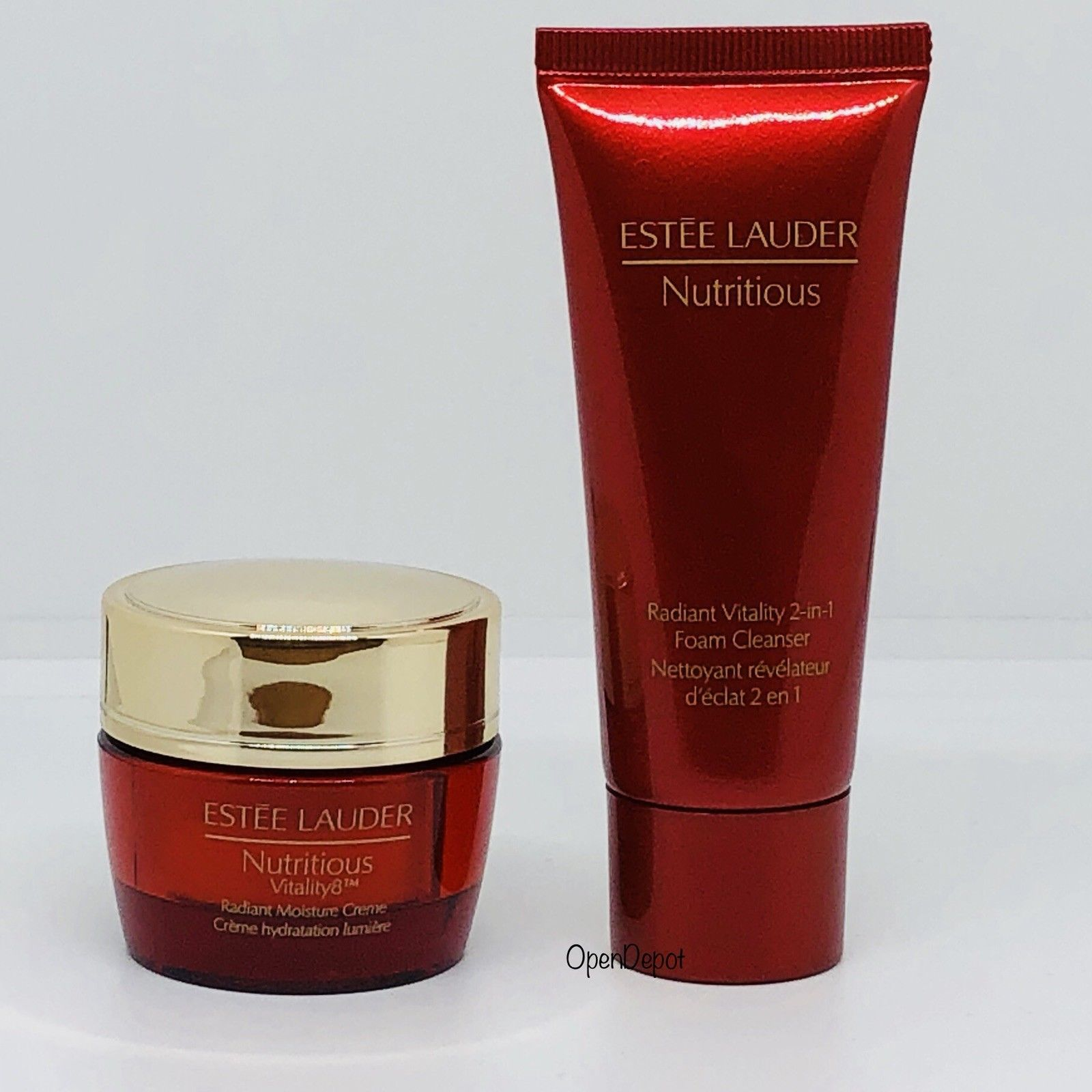 Primary image for 2PC Estee Lauder Nutritious Vitality8 Radiant Moisture Creme & Foam Cleanser DUO