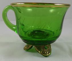 """Antique """"HELEN 1914""""  GREEN PATTERN Glass Souvenir MUG     G5 - $9.89"""