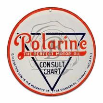 "Polarine The Perfect Motor Oil Design (Reproduction) 12"" Circle Aluminum Sign - $16.09"