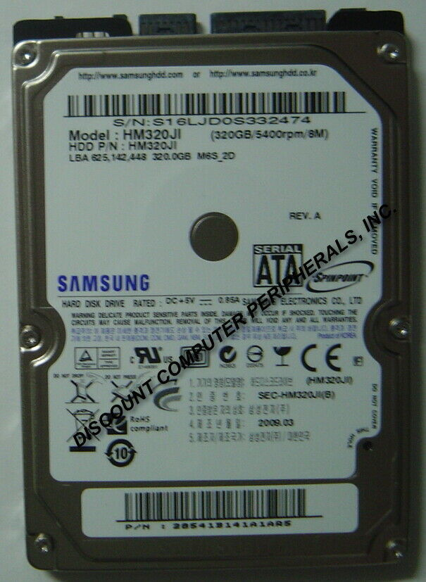 NEW HM320JI Samsung 320GB 2.5in 9.5MM SATA Hard Drive Free USA Ship