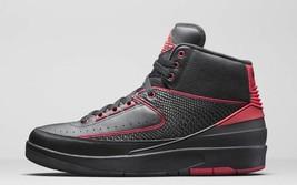 Nike Air Jordan 2 Retrò Alternate Nero/Rosso Varsity Uomo Misura 10 Nuovo 834274 - $130.90