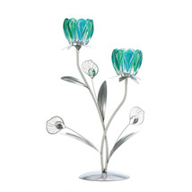 Metal Candle Holders, Decorative Iron Double Peacock Flowered Candle Hol... - £22.42 GBP