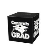 Black Congrats Grad Money Gift Card Box Graduation Party - £7.76 GBP