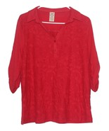 Faded Glory 3/4 sleeves Lace Front Top - $8.50